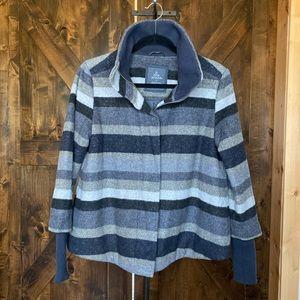 Prana Lily Wool Striped Jacket size small